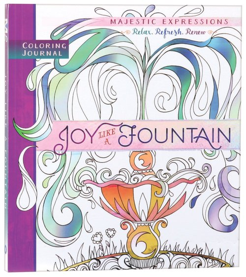 Product: Adult Coloring Journal: Joy Like A Fountain Image