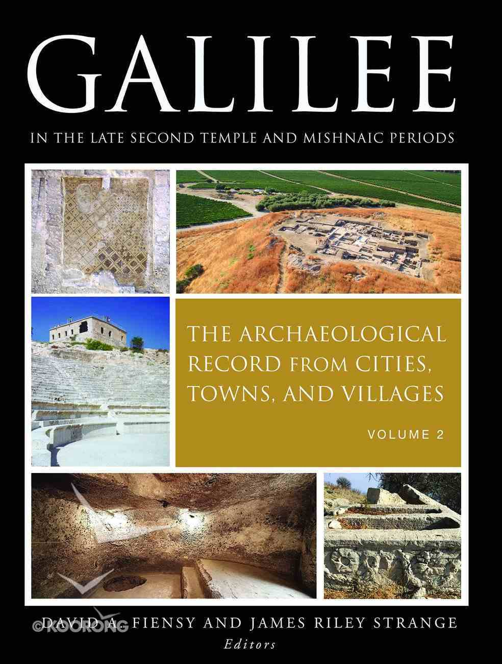 Galilee in the Late Second Temple and Mishnaic Periods Paperback