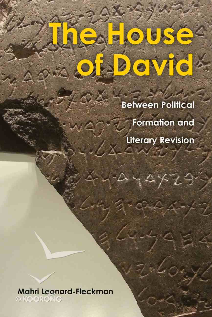 The House of David: Between Political Formation and Literary Revision Hardback