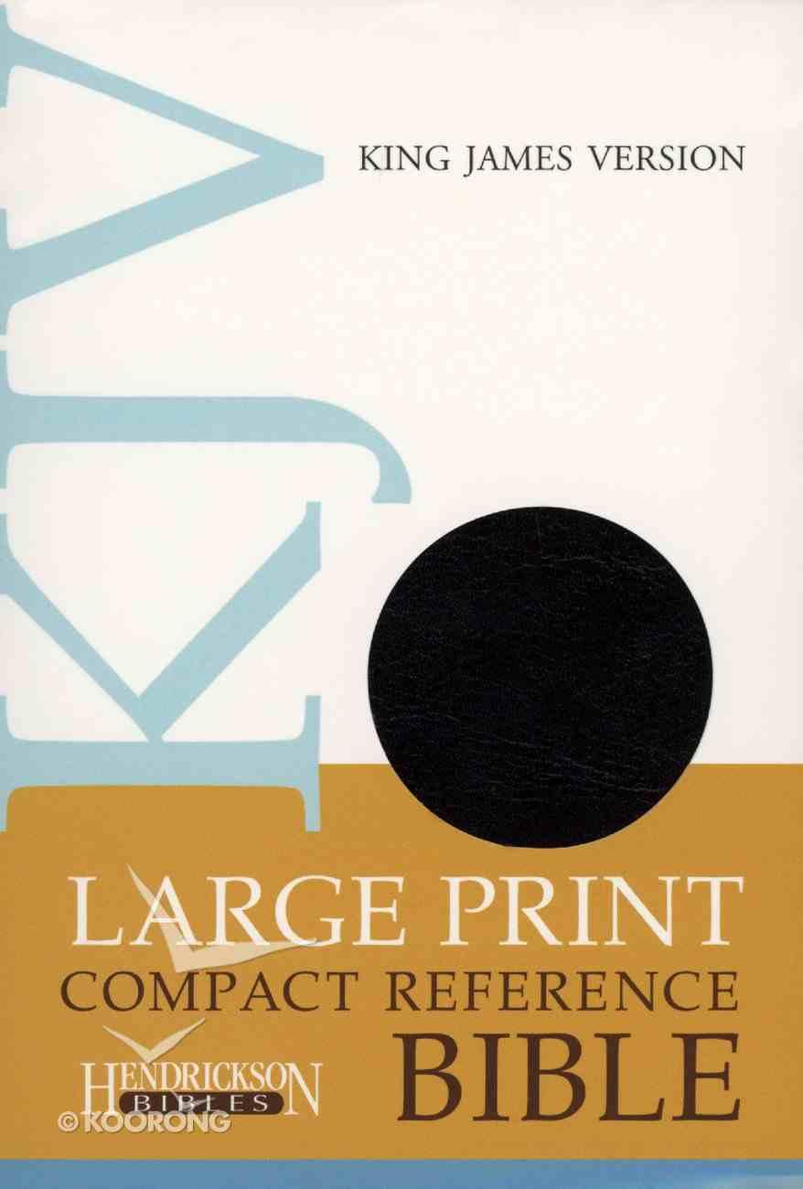KJV Hendrickson Compact Reference Large Print Black Flexisoft Imitation Leather