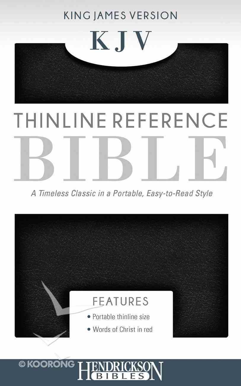 KJV Thinline Reference Bible Black Imitation Leather
