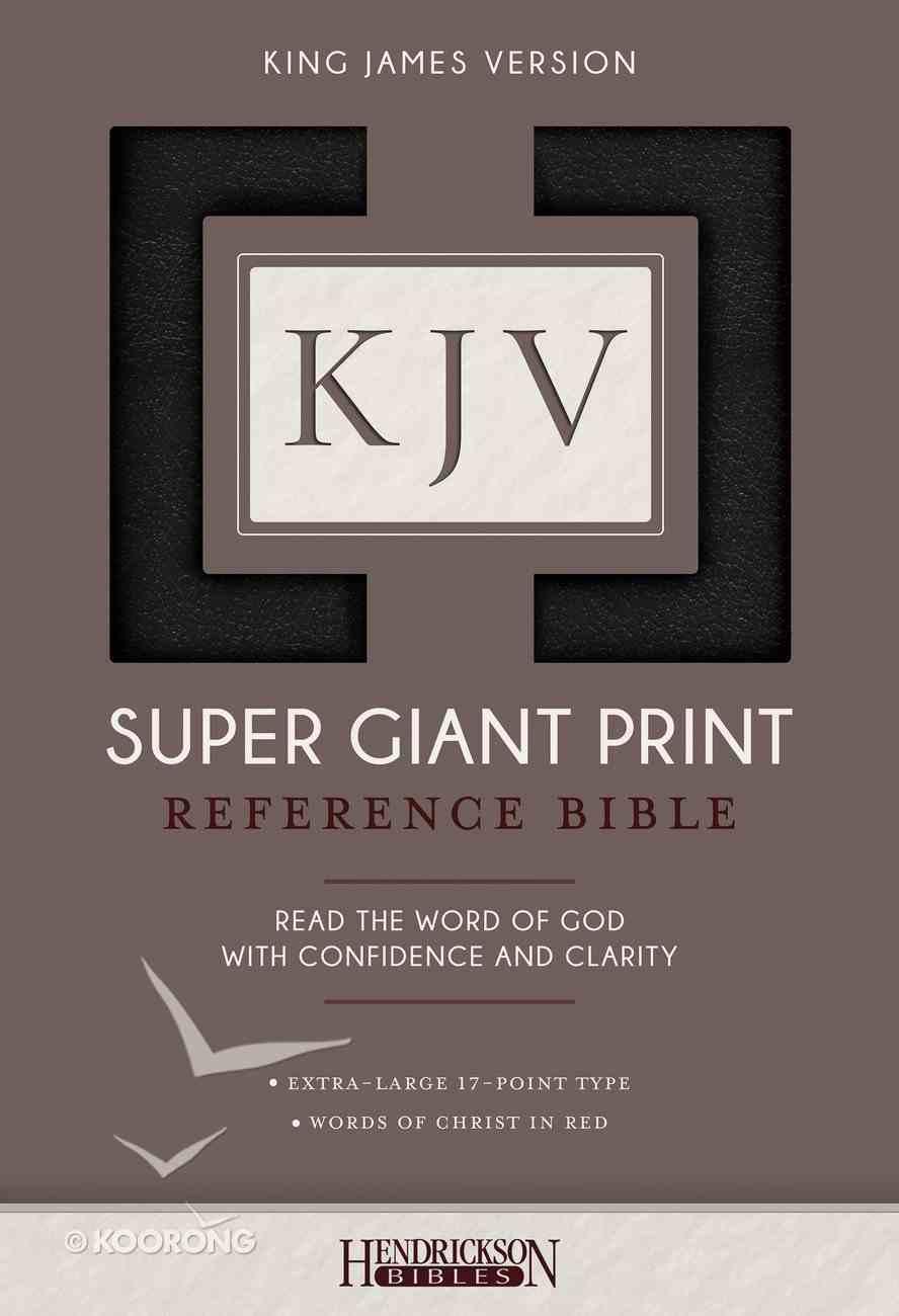 KJV Super Giant Print Reference Bible Black Imitation Leather
