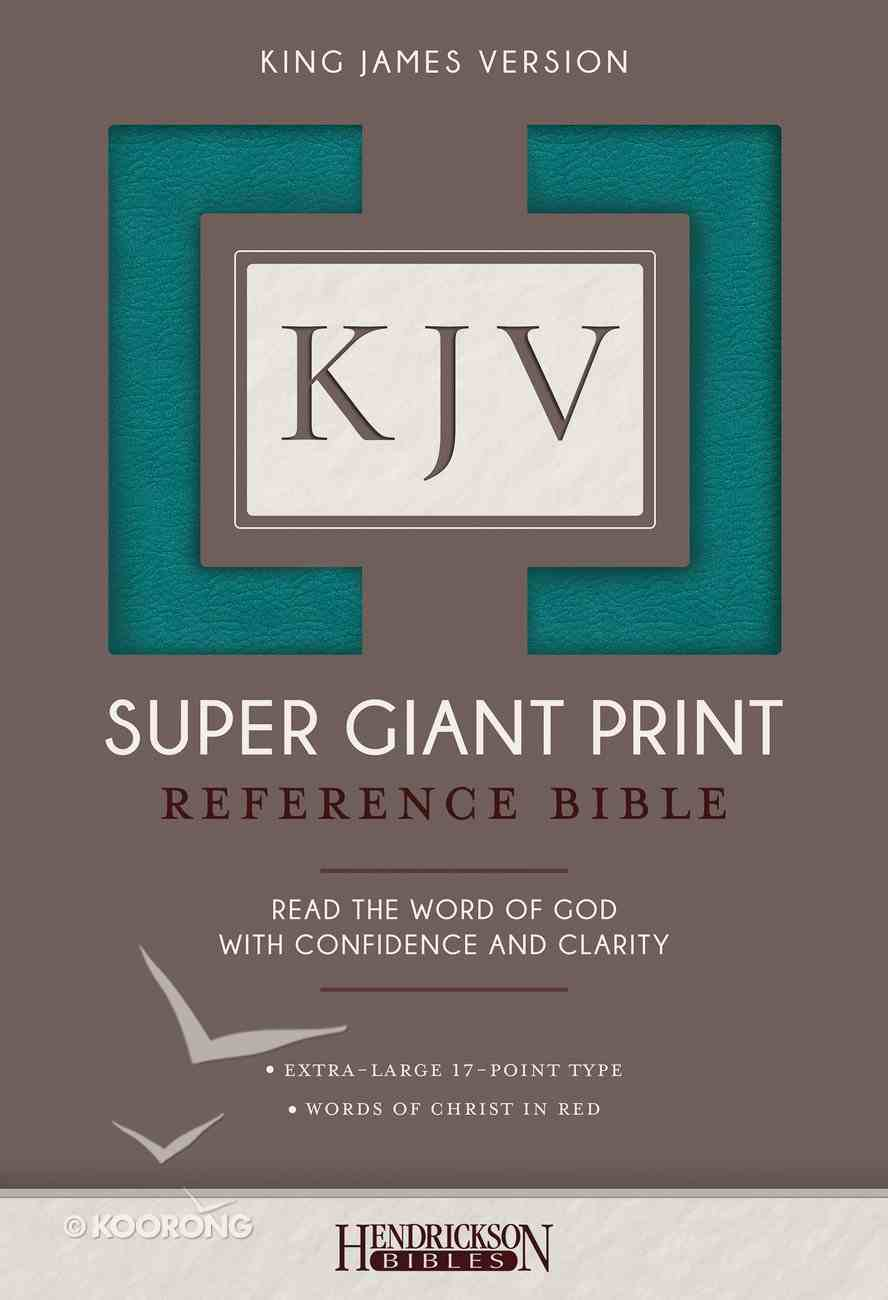 KJV Super Giant Print Reference Bible Flexisoft Turquoise Imitation Leather