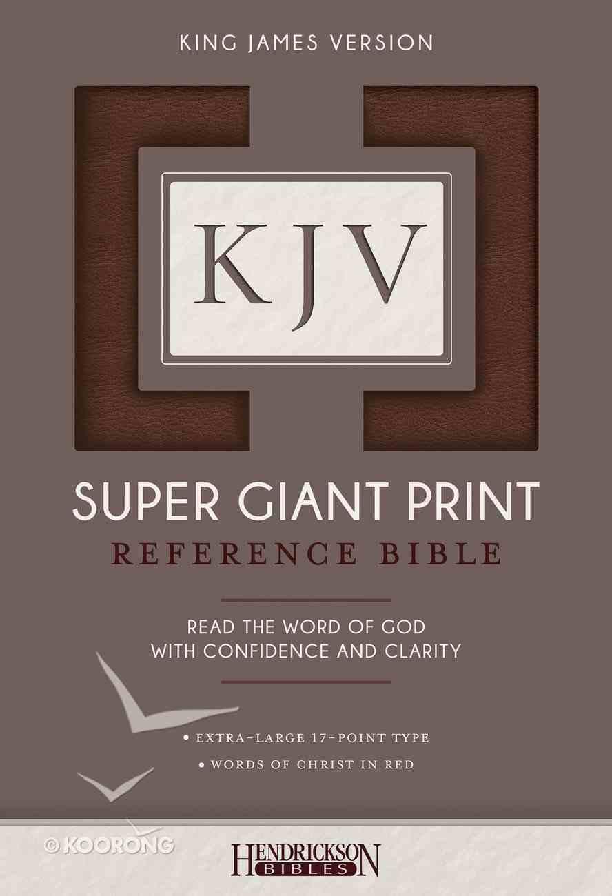 KJV Super Giant Print Reference Bible Brown Flexisoft Imitation Leather
