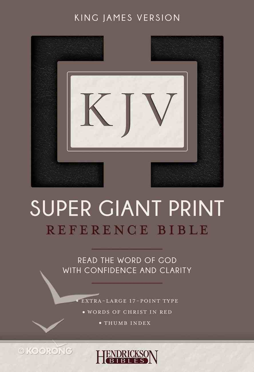 KJV Super Giant Print Thumb Indexed Reference Bible Black Imitation Leather