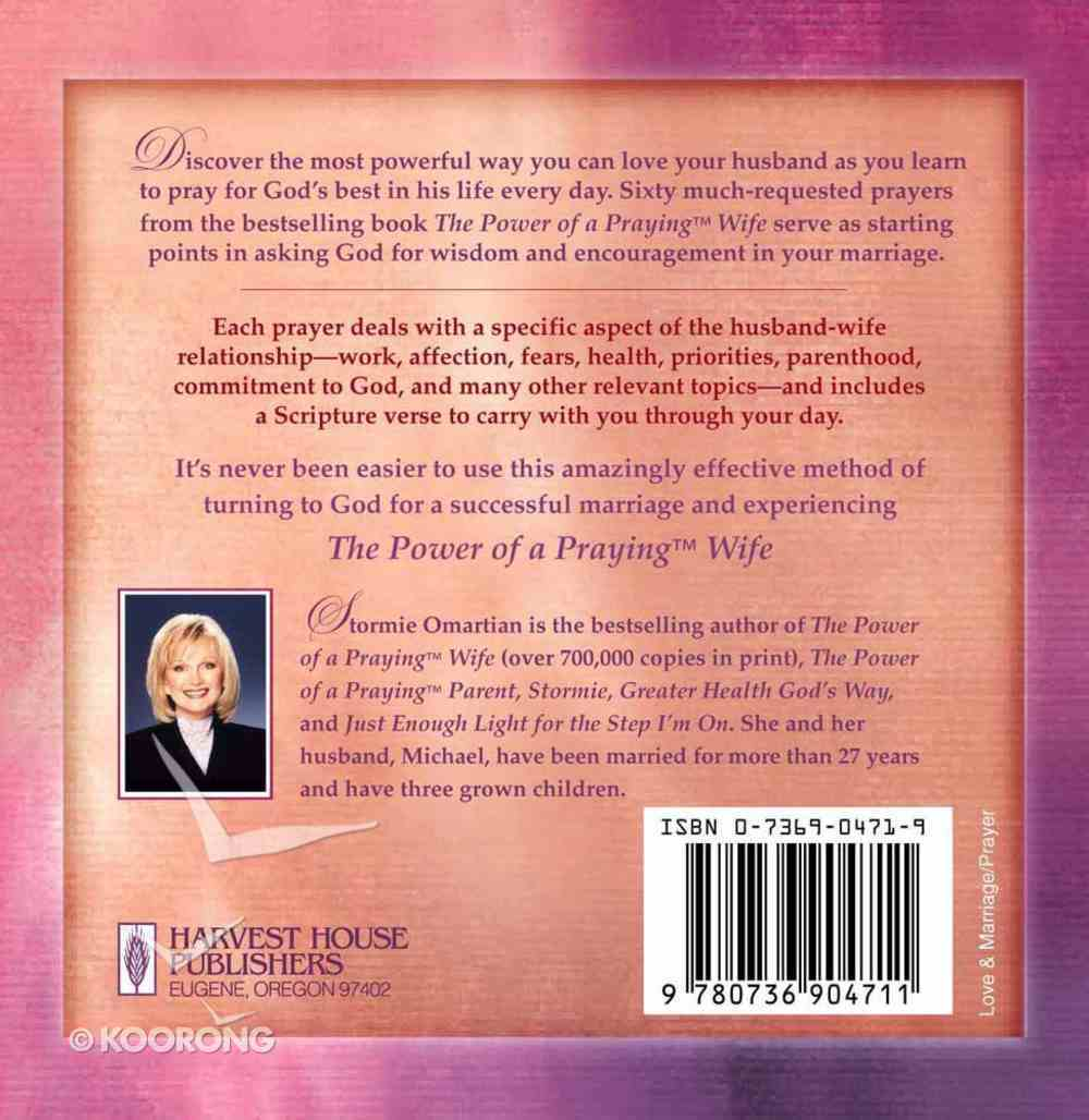 Prayer Cards: The Power of a Praying Wife Chart/card
