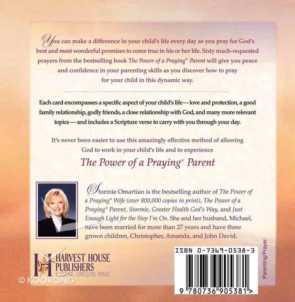 The Power of a Praying Parent: Prayer Cards Chart/card