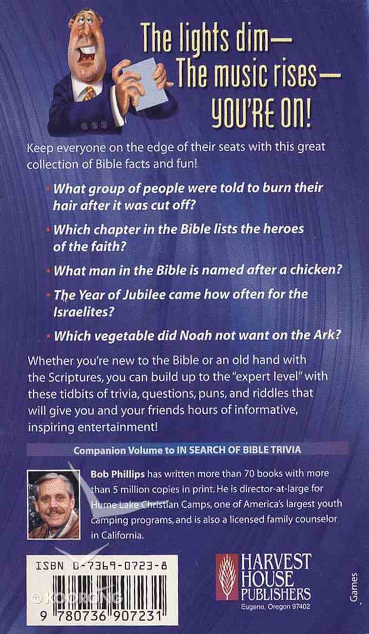 So You Want to Be a Bible Trivia Expert Mass Market