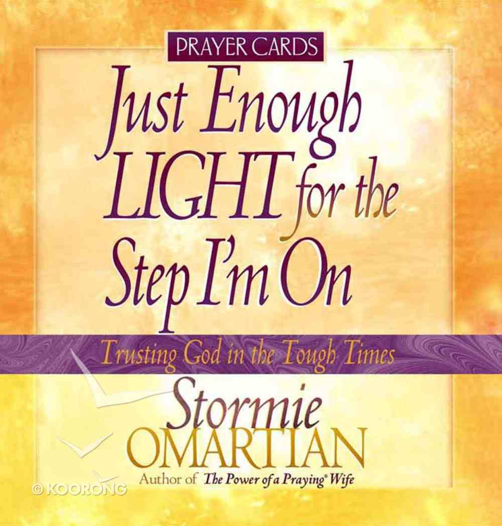 Prayer Cards: Just Enough Light For the Step I'm on Chart/card