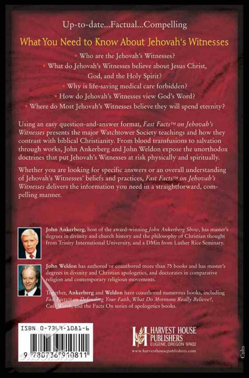 Fast Facts on Jehovah's Witnesses Paperback