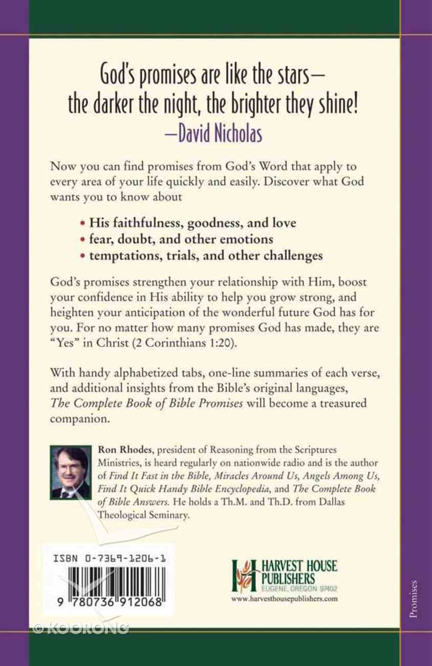 The Complete Book of Bible Promises Paperback