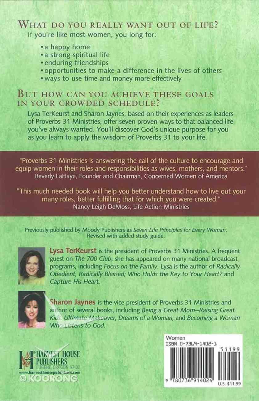 A Woman's Secret to a Balanced Life Paperback