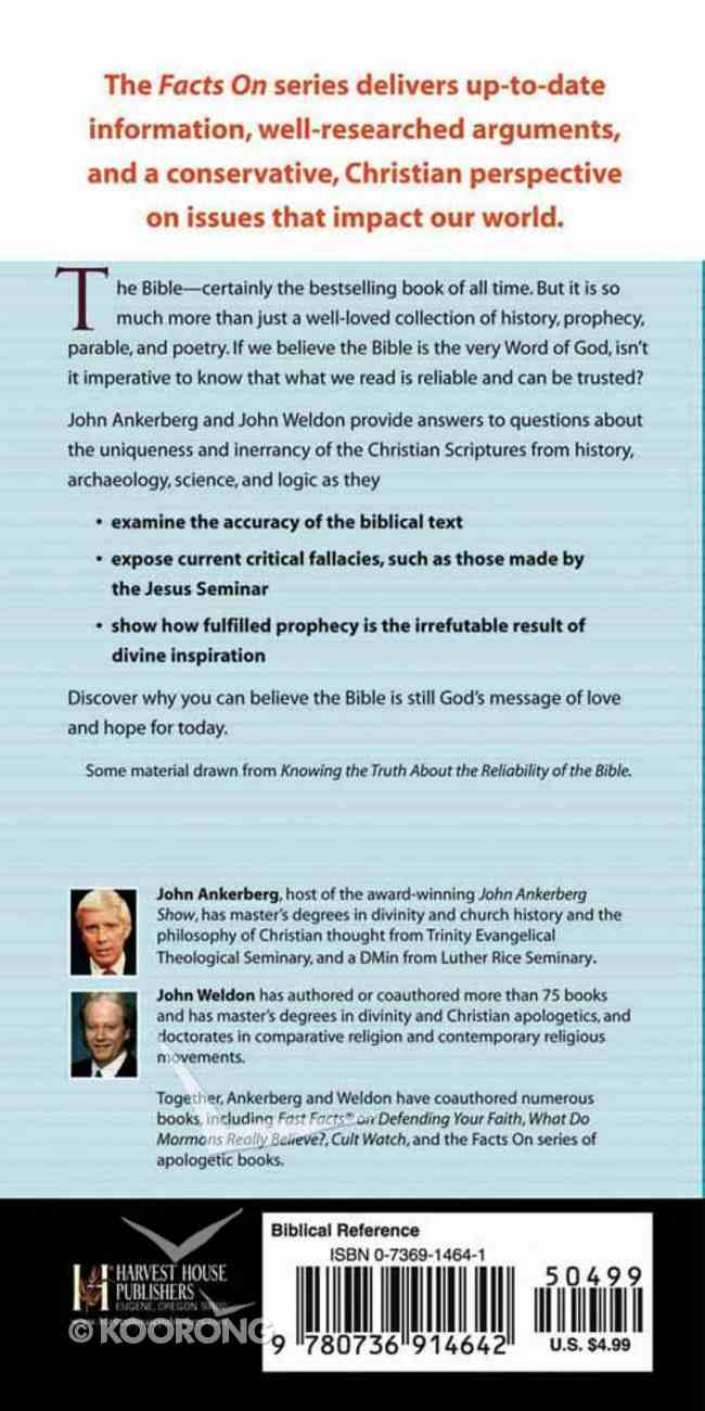 The Facts on Why You Can Believe the Bible Booklet