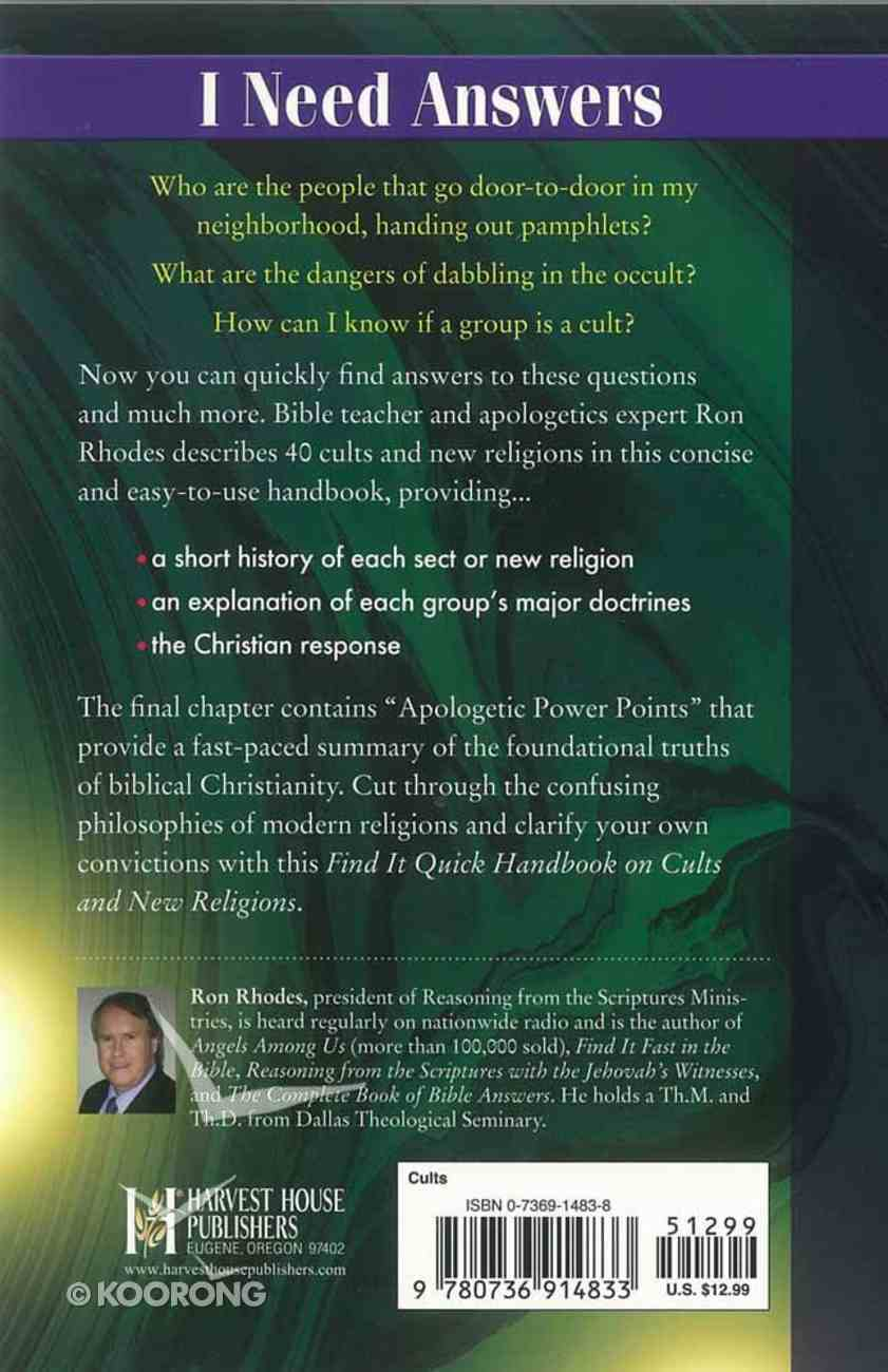 Find It Quick: Handbook on Cults and New Religions Paperback