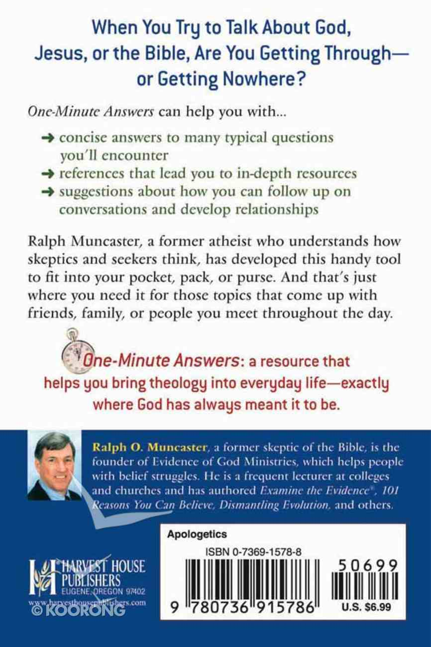 One-Minute Answers: The Evidence For Christianity Paperback