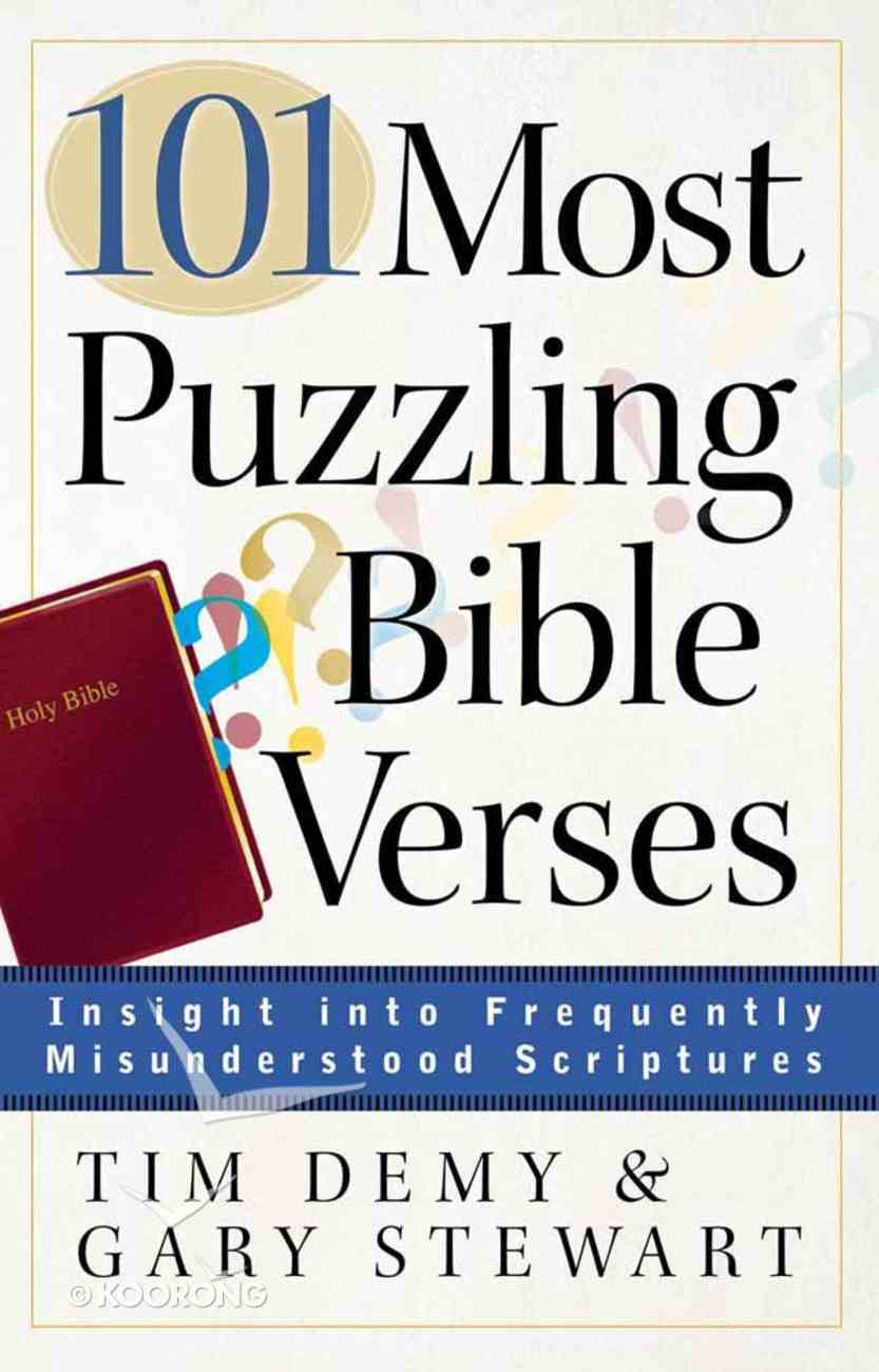 101 Most Puzzling Bible Verses Paperback