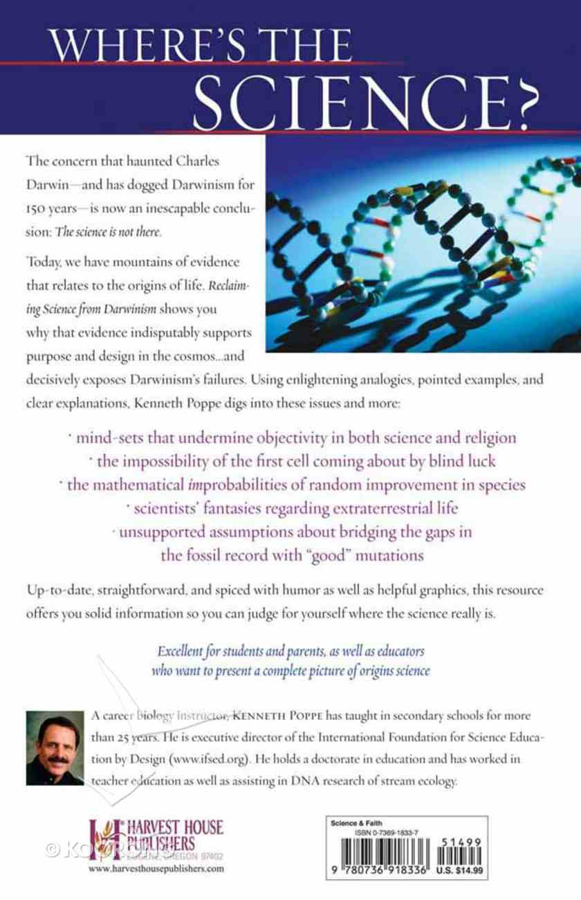 Reclaiming Science From Darwinism Paperback