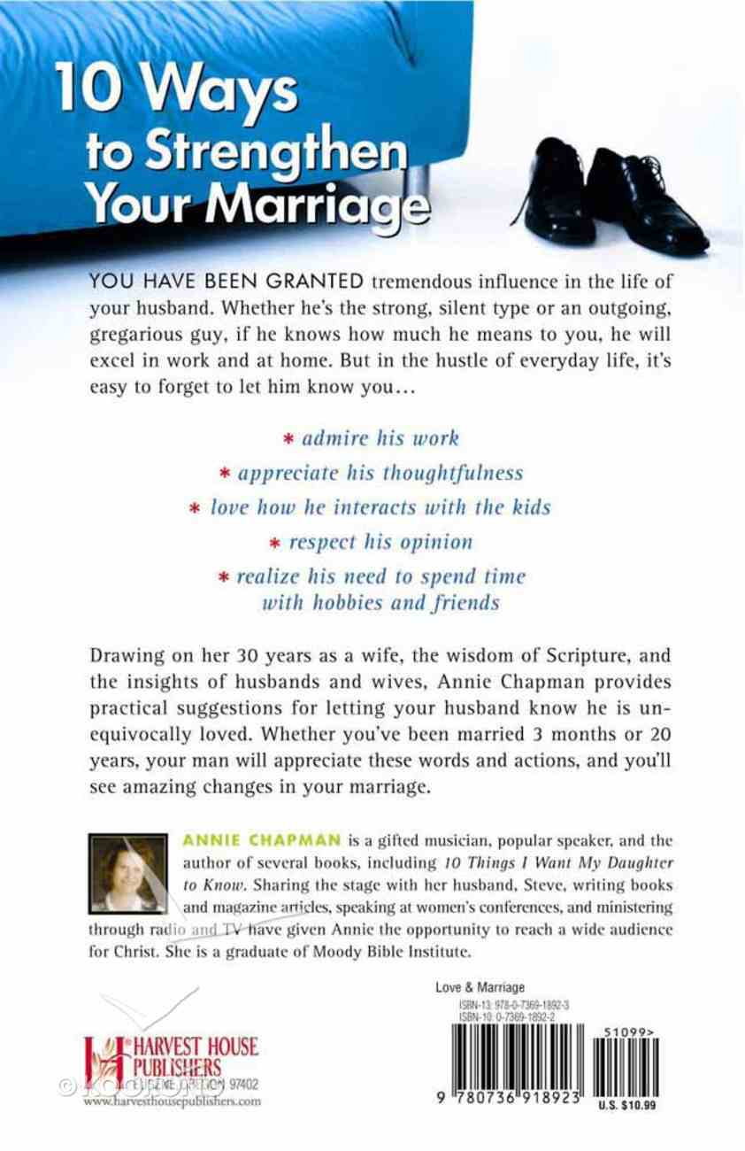 Ten Things I Want My Husband to Know Paperback