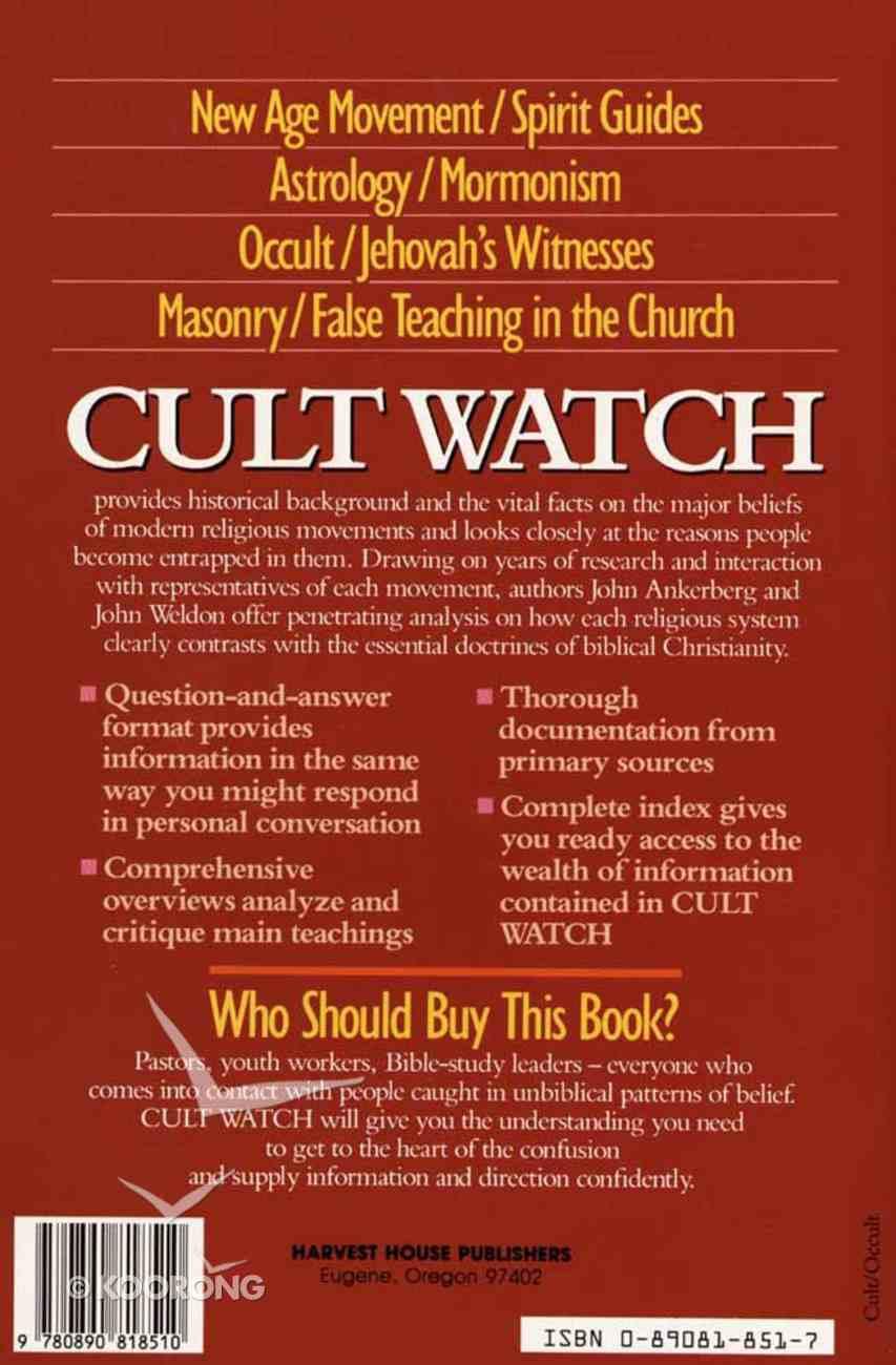 Cult Watch Paperback