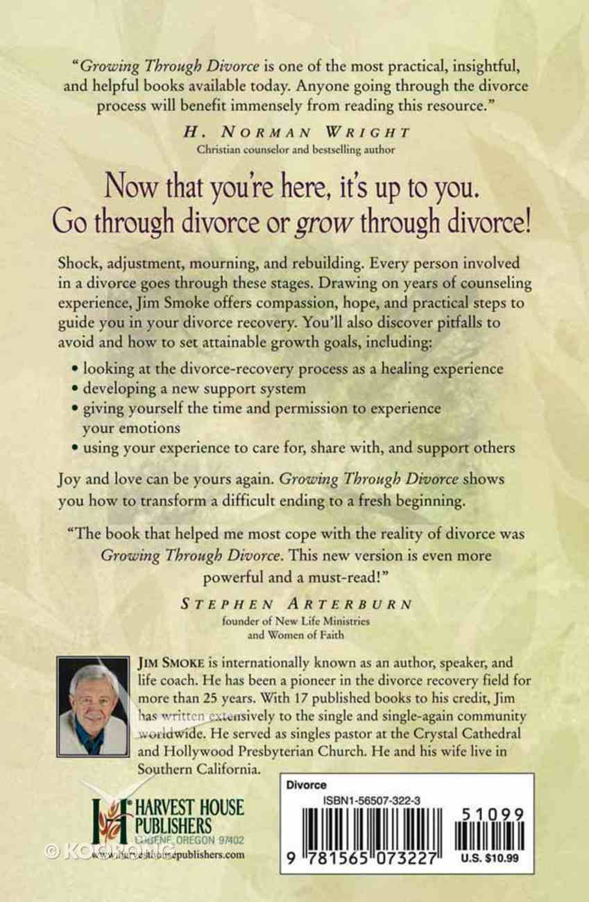 Growing Through Divorce (With Study Guide) Paperback