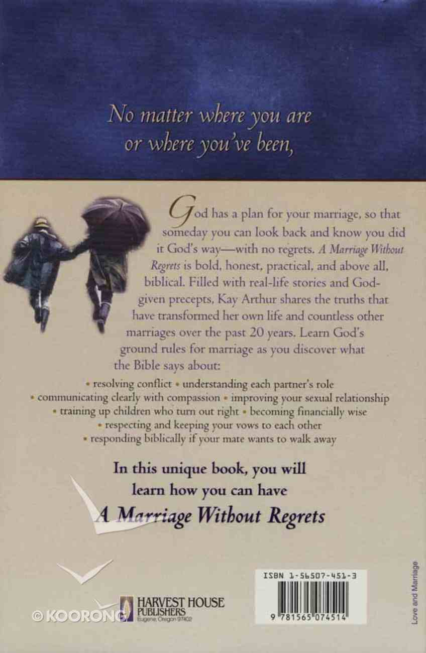 A Marriage Without Regrets Hardback