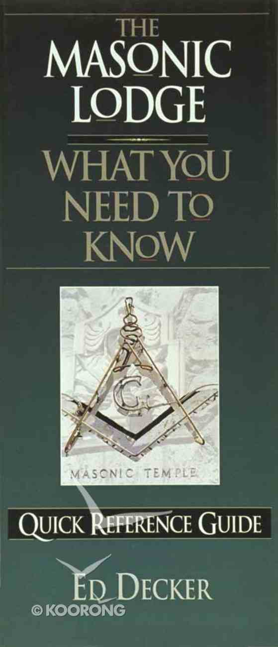 What You Need to Know: Masonic Lodge Paperback