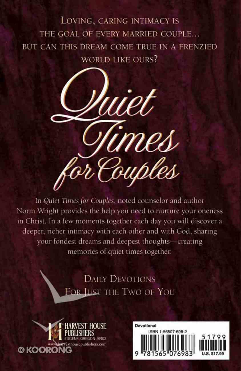 Quiet Times For Couples Hardback