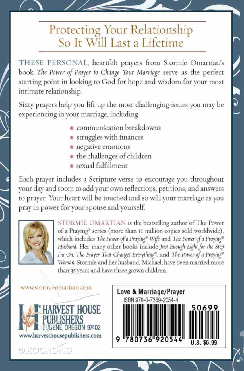 Power of Prayer to Change Your Marriage (Book Of Prayers Series) Mass Market