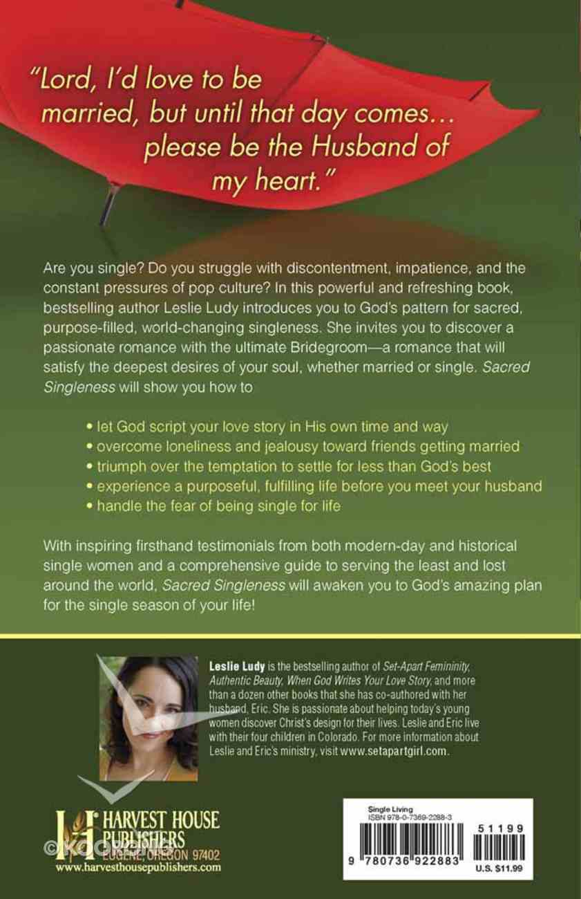 Sacred Singleness Paperback