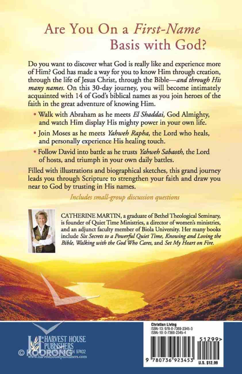 30-Day Journey: Trusting in the Names of God Paperback