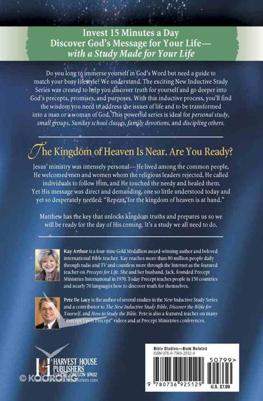 The Coming of God's Kingdom (Matthew) (New Inductive Study Series) Paperback
