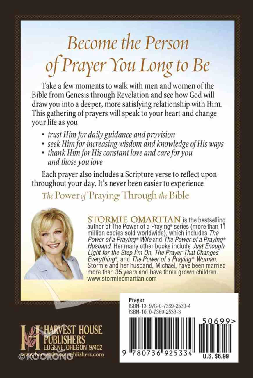 The Power of Praying Through the Bible (Book Of Prayers Series) Mass Market
