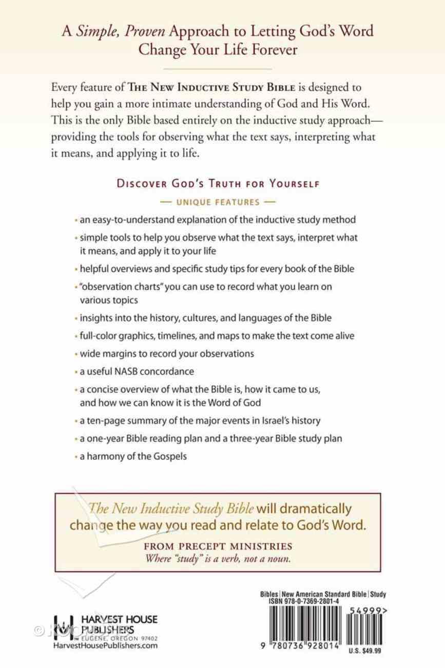 NASB New Inductive Study Bible Hardback