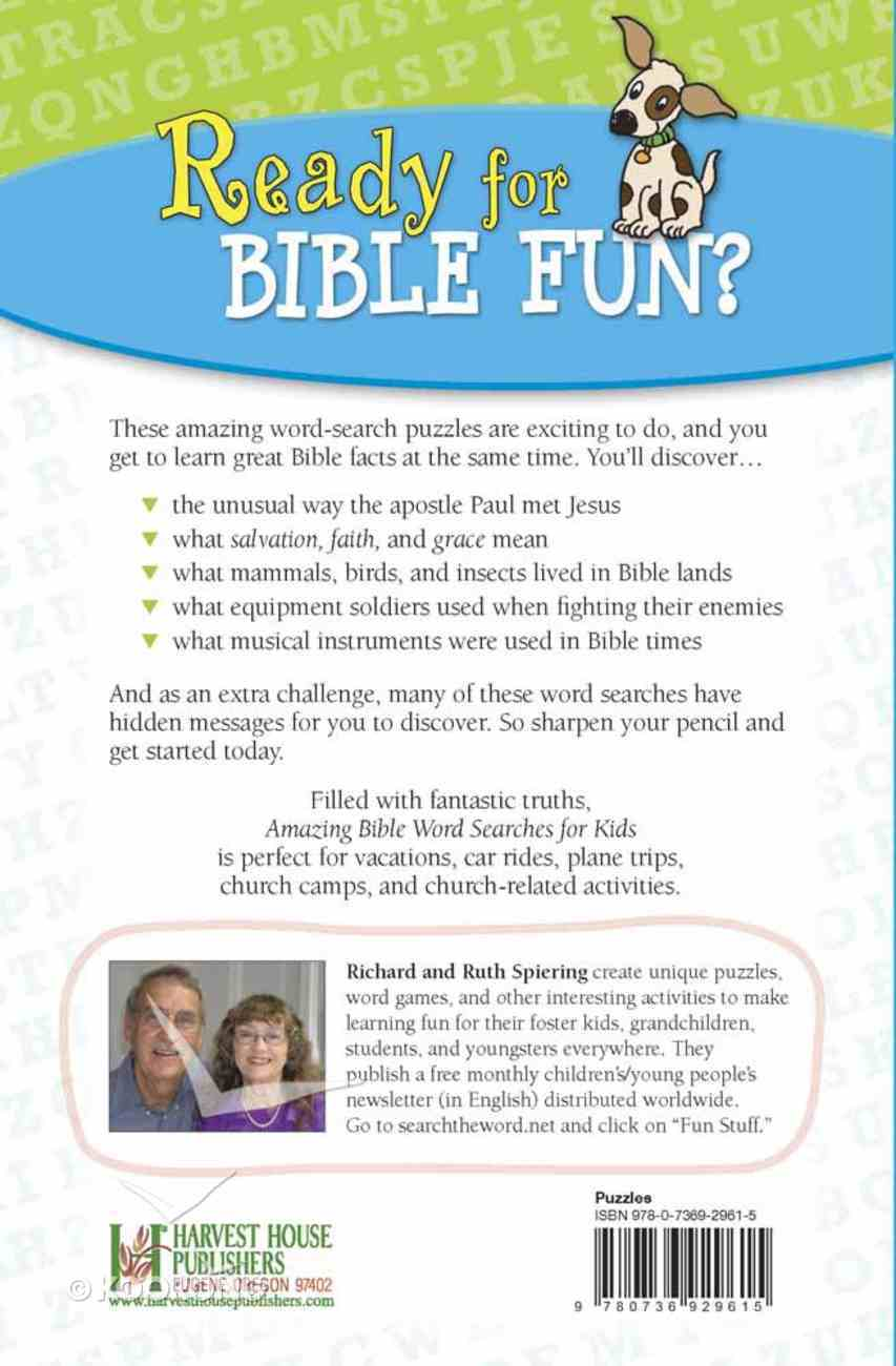 Amazing Bible Word Searches For Kids Paperback