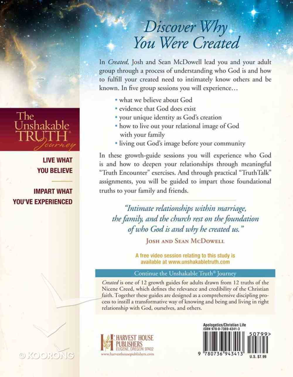 Unshakable Truth Journey: Created (Growth Guide) Paperback