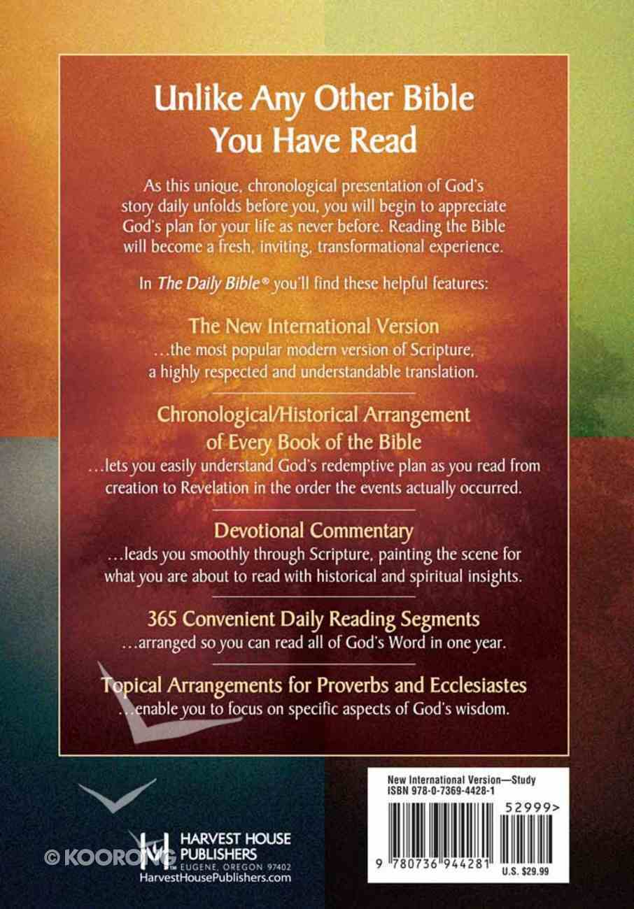 NIV Daily Bible in Chronological Order Hardback