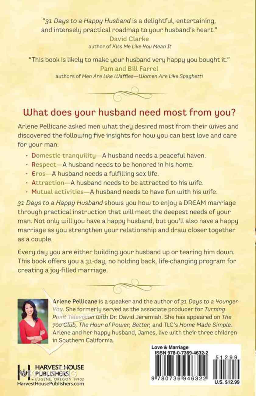 31 Days to a Happy Husband Paperback