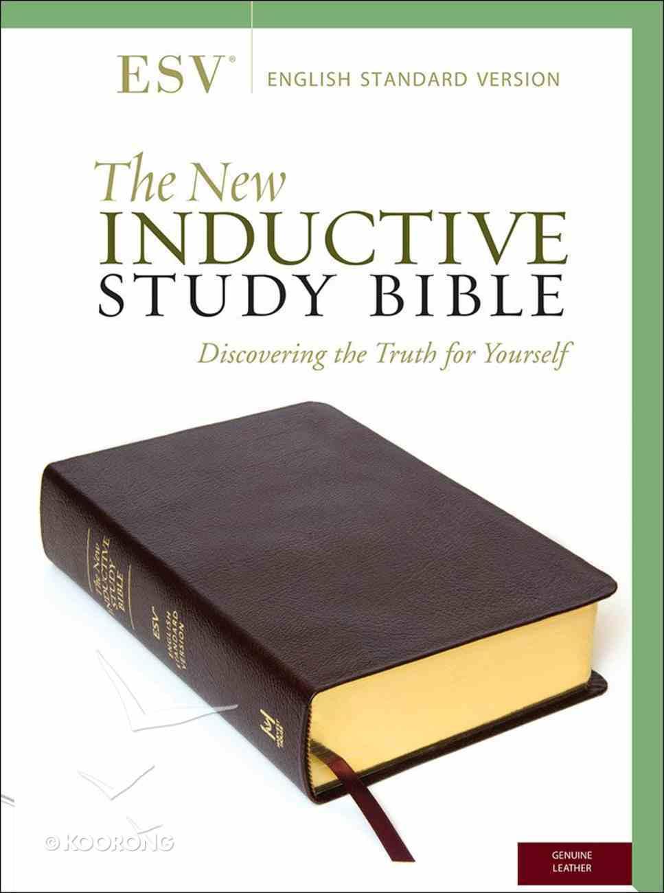 ESV New Inductive Study Bible Burgundy Genuine Leather