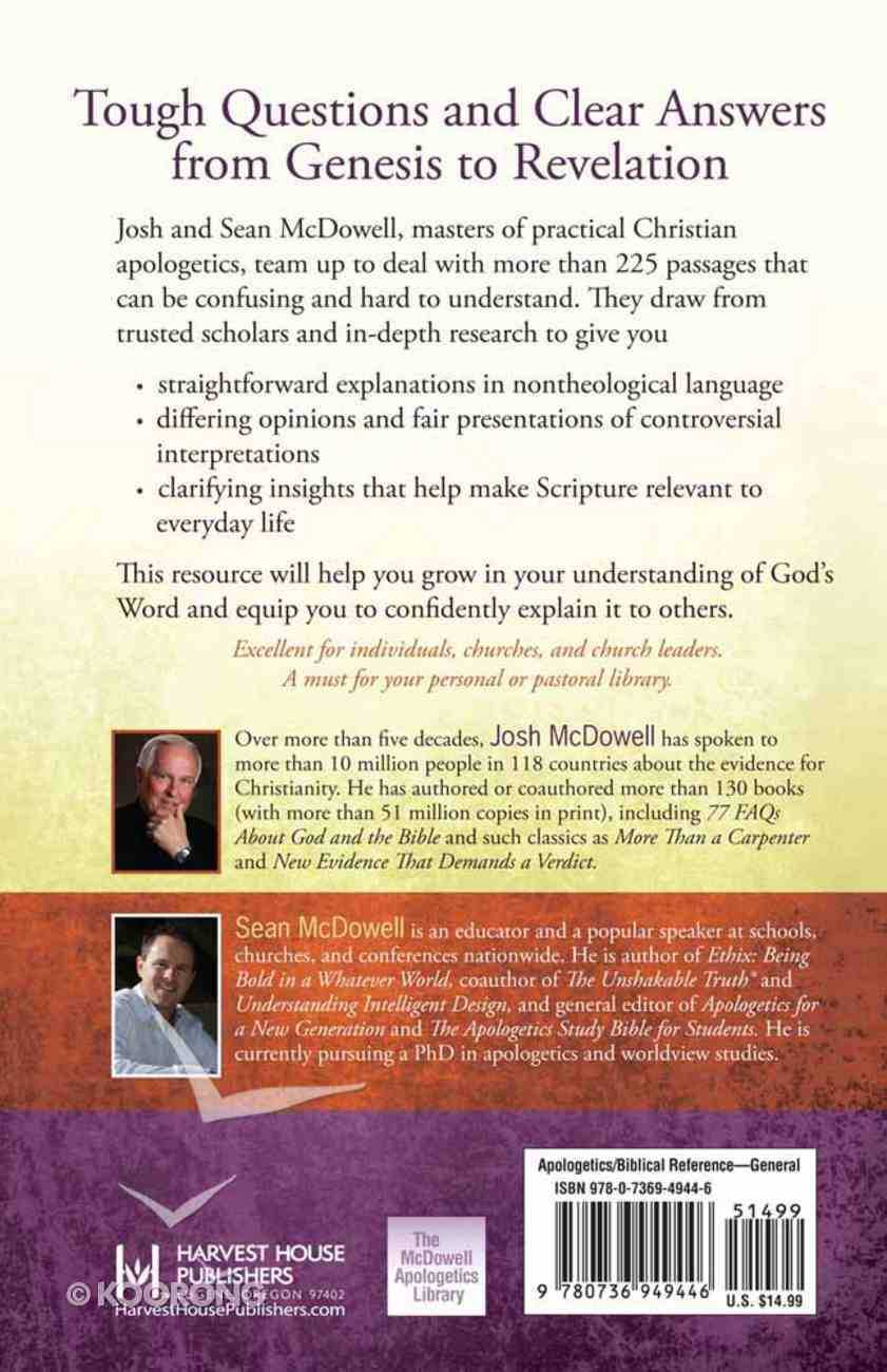 The Bible Handbook of Difficult Verses Paperback