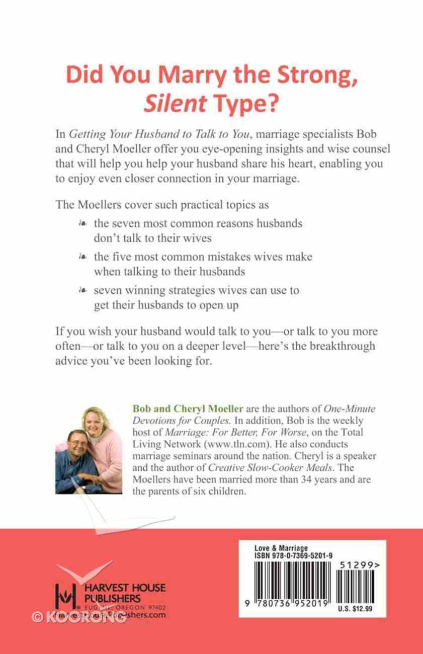 Getting Your Husband to Talk to You Paperback