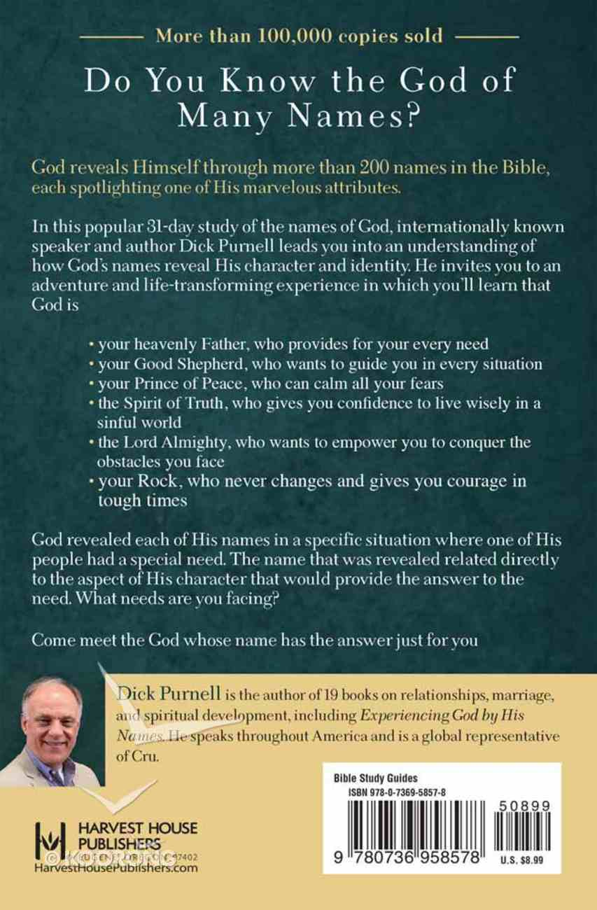 Knowing God By His Names Paperback