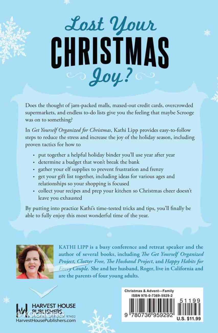 Get Yourself Organized For Christmas Paperback