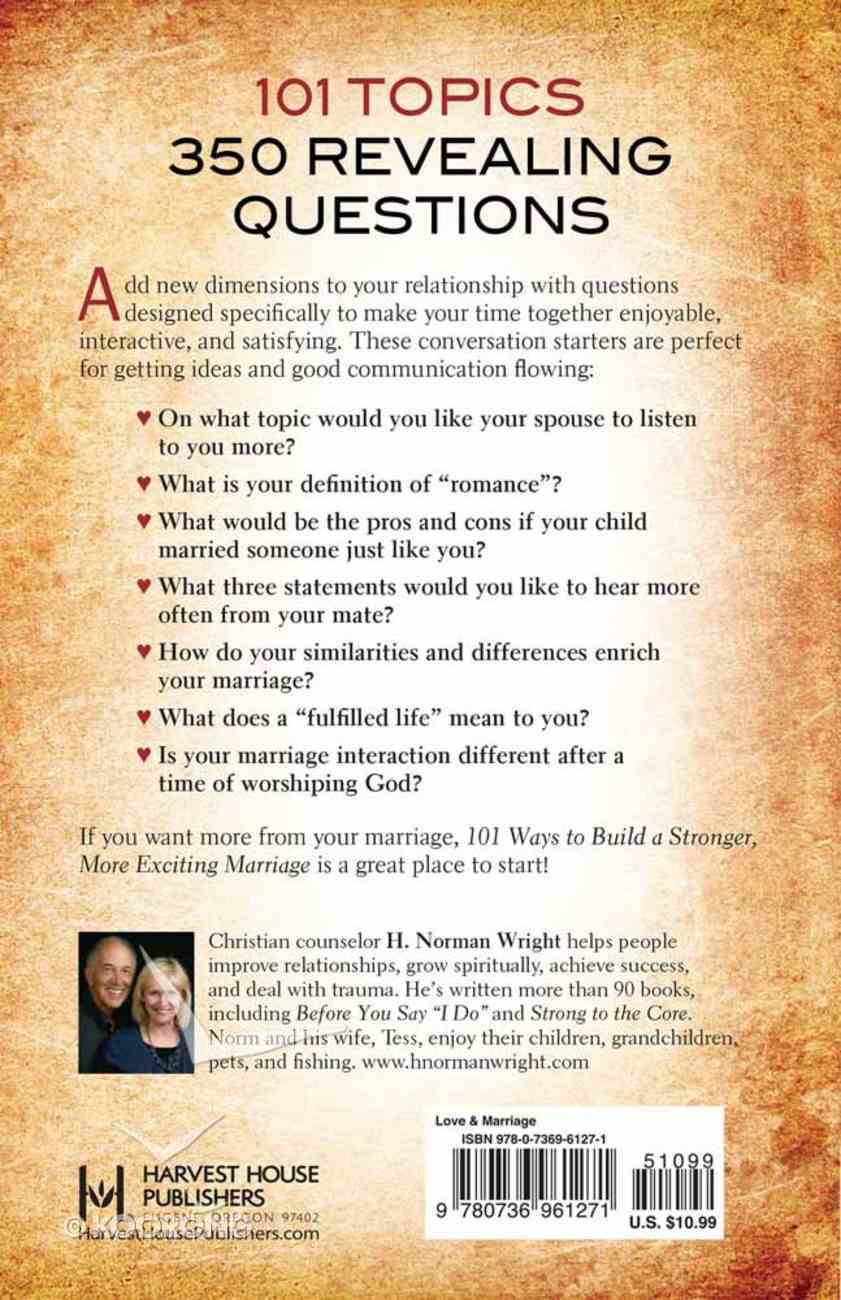 101 Ways to Build a Stronger, More Exciting Marriage Paperback