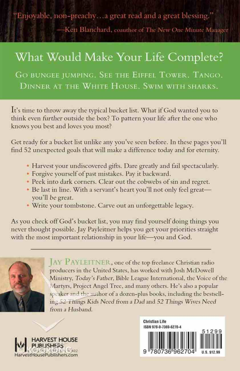 What If God Wrote Your Bucket List? Paperback
