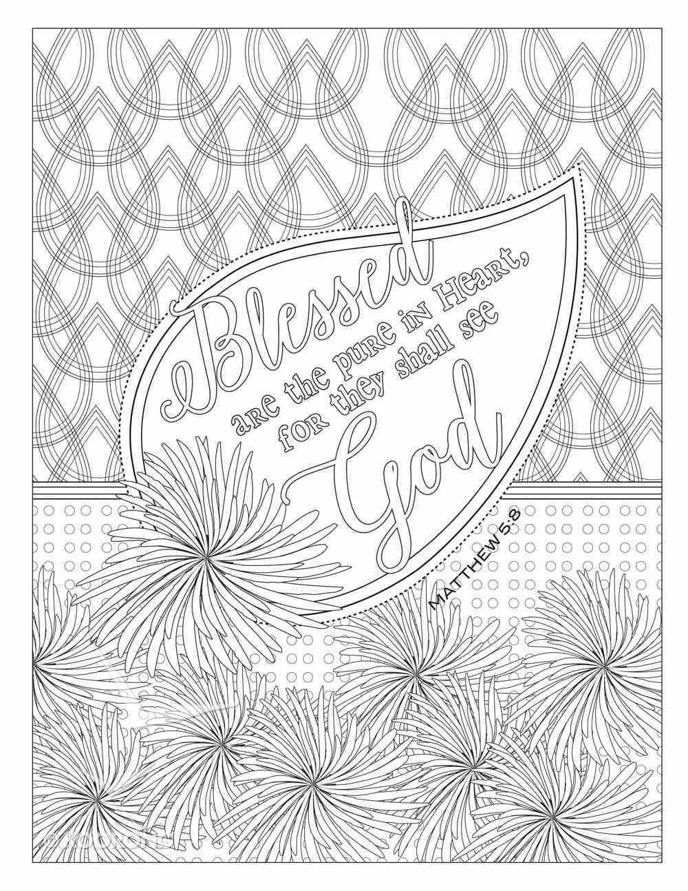 Color the Words of Jesus - Coloring Book For Your Soul (Adult Coloring Books Series) Paperback