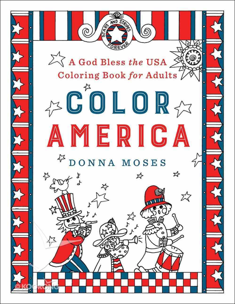 Color America (Adult Coloring Books Series) Paperback