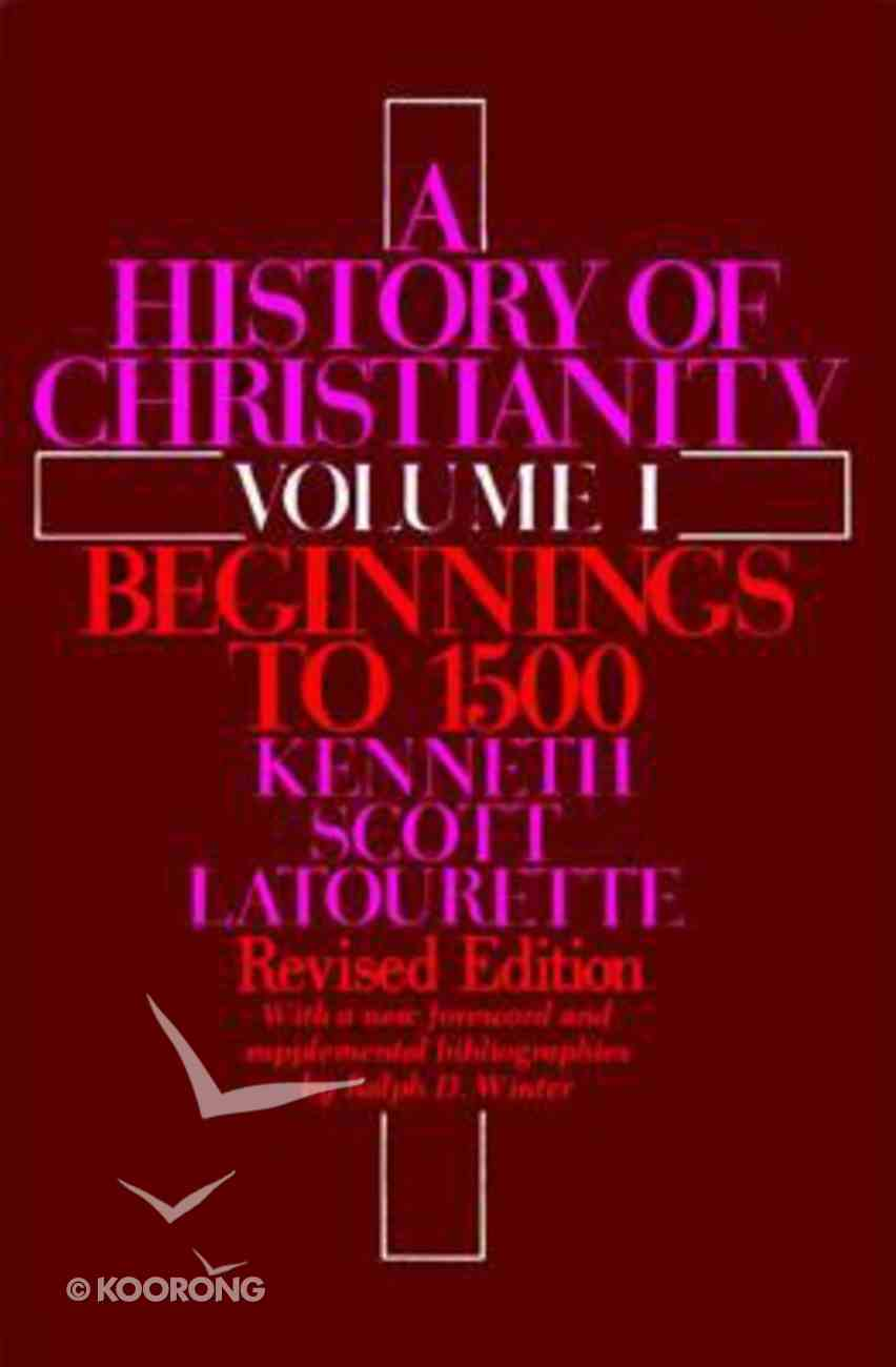 A History of Christianity (Vol 1) Paperback