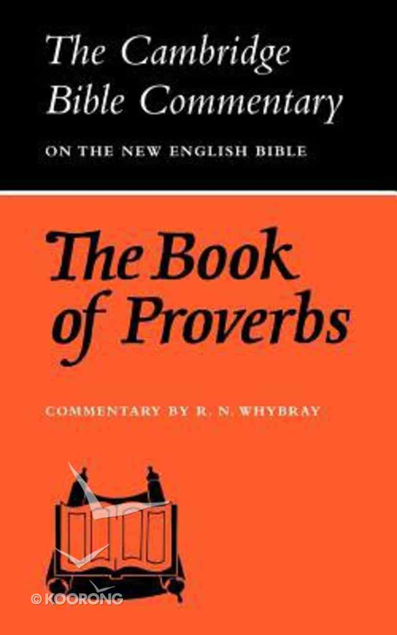 Cbcot: Book of Proverbs Paperback