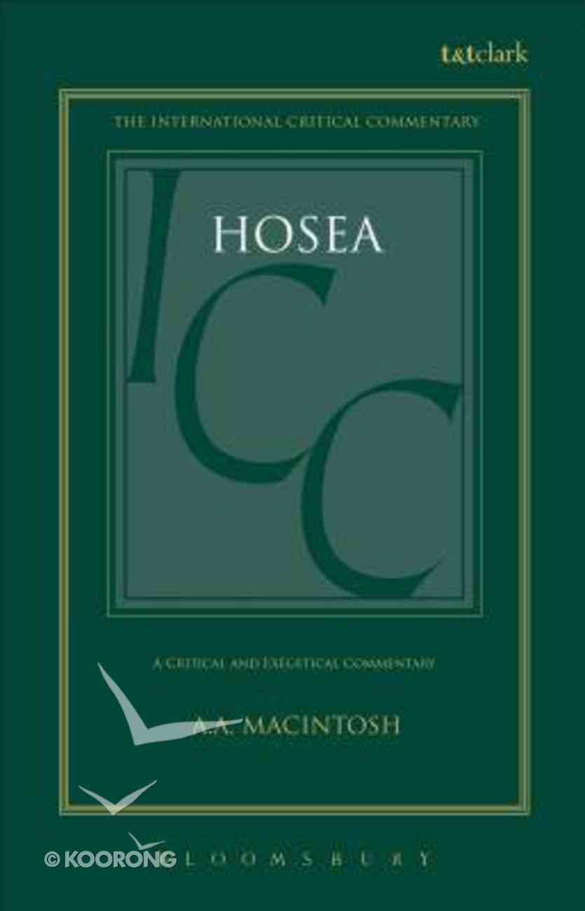 Hosea (International Critical Commentary Series) Hardback