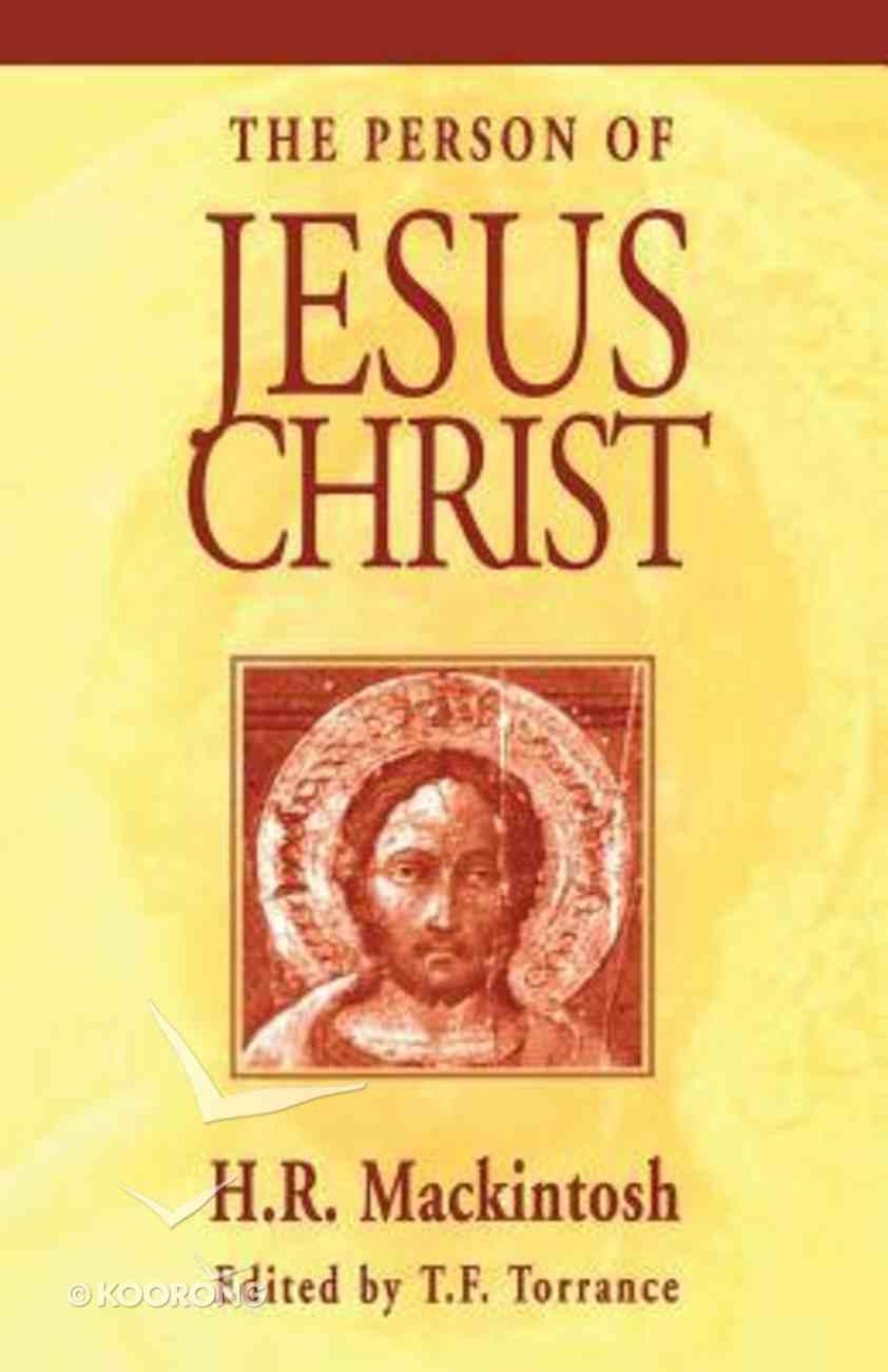 Person of Jesus Christ Paperback